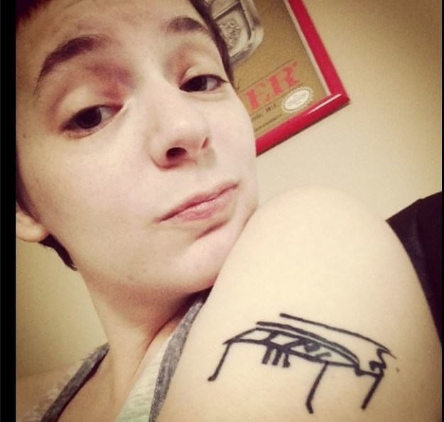 """Ben Folds drew a piano on me."""