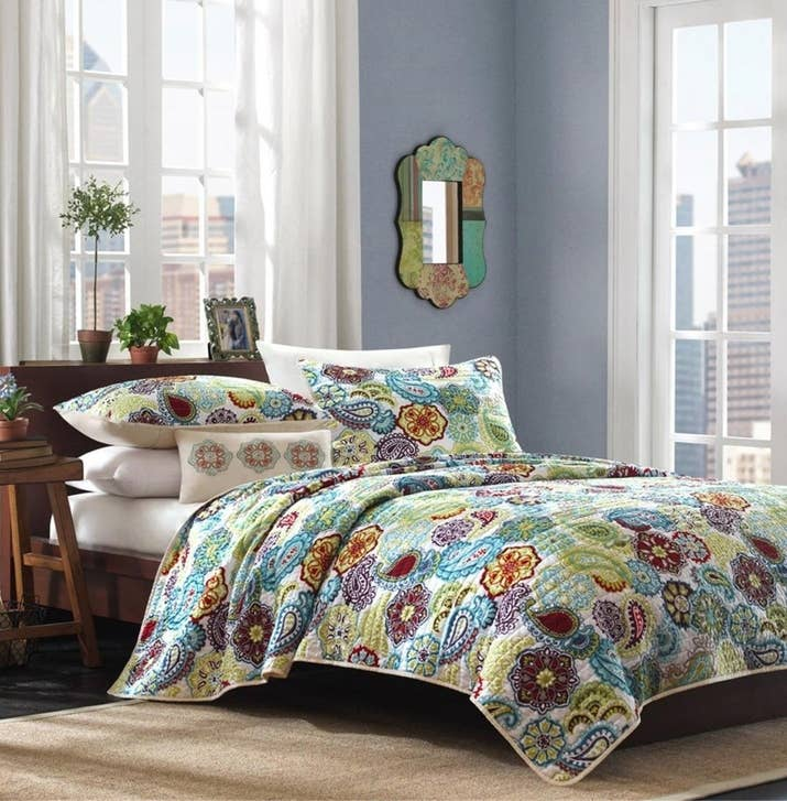 A paisley quilt set for people who long for a less boring bedroom. 23 Of The Best Bedding Sets You Can Get On Amazon