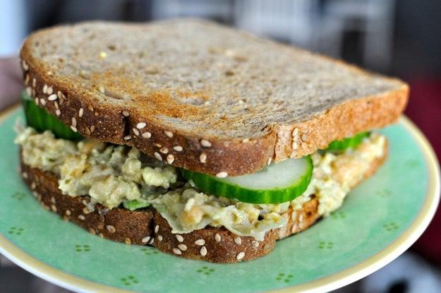 5. Friday: Chickpea Avocado Salad Sandwich