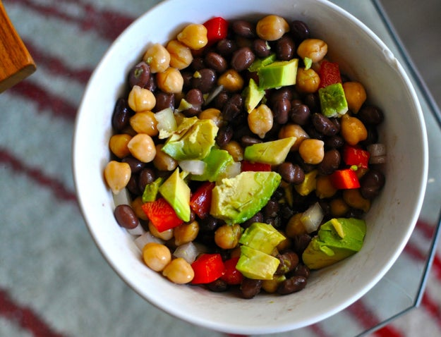 2. Tuesday: Black Bean and Chickpea Salad