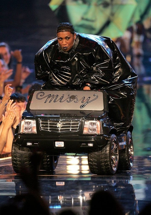 You know who else made quite the entrance? Missy Elliot.