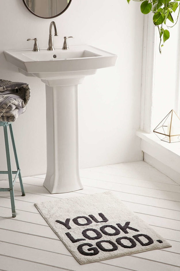 A bathmat that'll put a smile on your face even if you're not a morning person.
