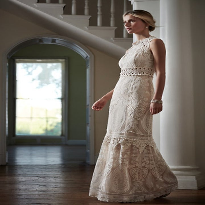 This mesmerizing rose gown with pearl details.   Wedding