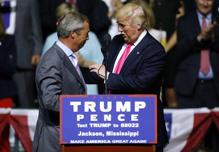 UKIP's Nigel Farage and Donald Trump