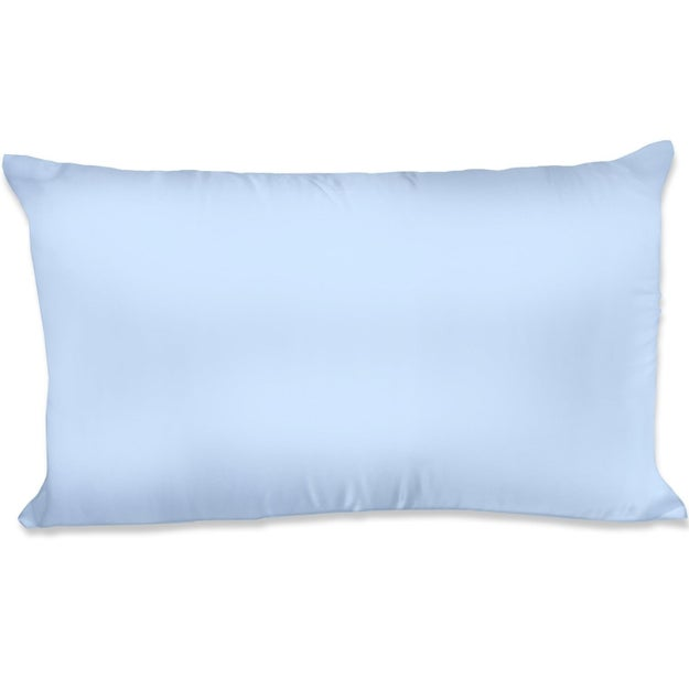 A satin pillowcase that helps keep your hair looking presentable as you sleep.