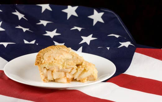 """We even use the phrase """"American as apple pie."""""""