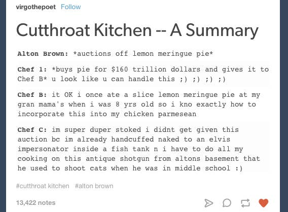 22 Cutthroat Kitchen Tumblr Posts That Ll Make You Pee