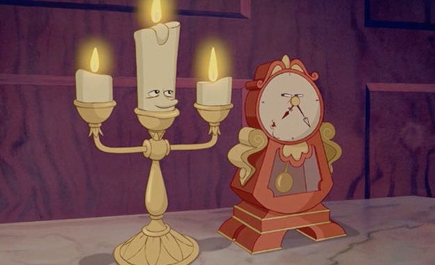 Then there's our old pals Cogsworth and Lumiere, who just want you to be their guest.