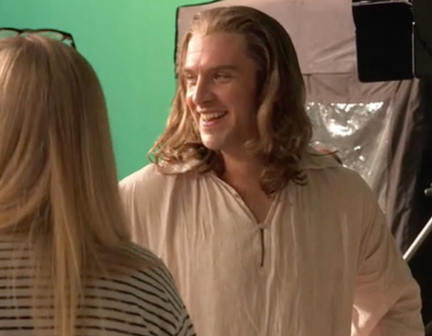 ...In the live action version we've got Dan Stevens as Beast, but this time with blond locks.