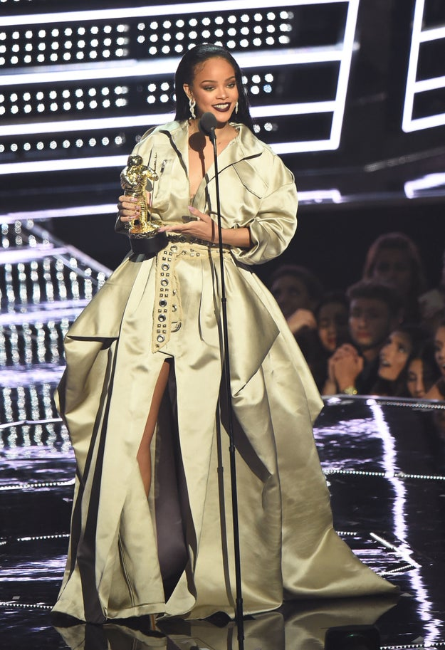 At the 2016 MTV VMAs, Rihanna was honored with the Michael Jackson Video Vanguard Award, because if you haven't noticed, she'd been slaying the pop game for more than a decade now.