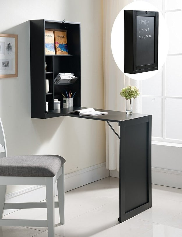 A perfect-for-small-apartments desk that you can fold up when you're not working on it.