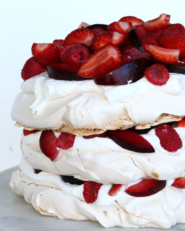 Strawberries and Cream Cloud Cake
