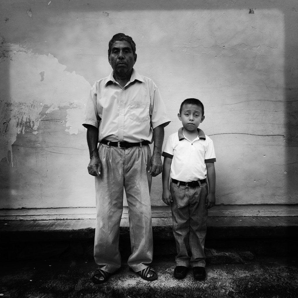 Granano Santos and his son Emmanuel Enrique Santos Mendez, 6.