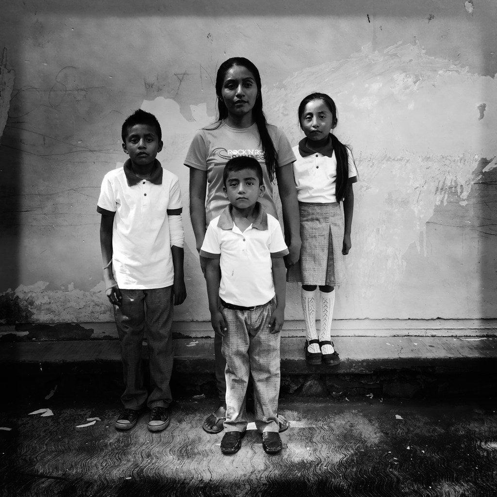 Laura Cruz Sanchez, 25 with her children Bartolo Everard, 11, Gerardo Ezequiel, 6 and Yadira Sarai,6.