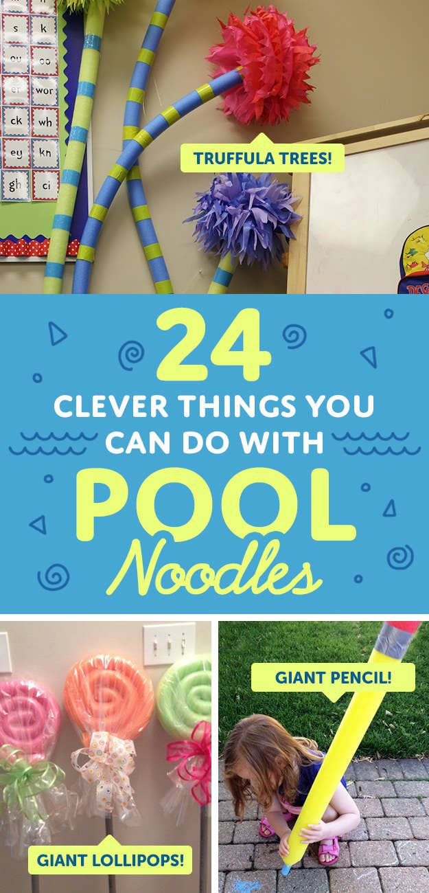 24 Insanely Clever Things You Can Do With Pool Noodles