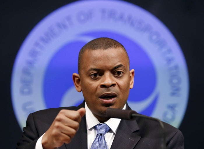 US Transportation Secretary Anthony Foxx delivers an announcement in Washington, DC, in 2014.