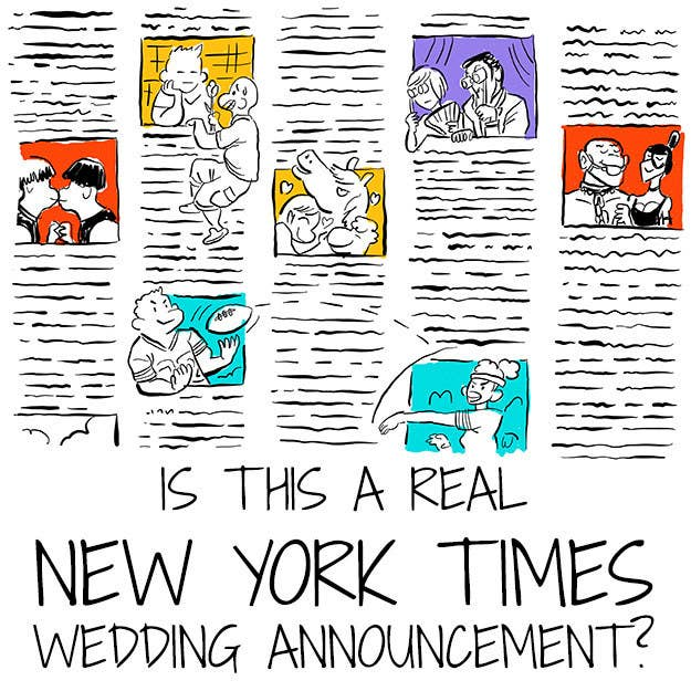 New york times wedding announcement cost