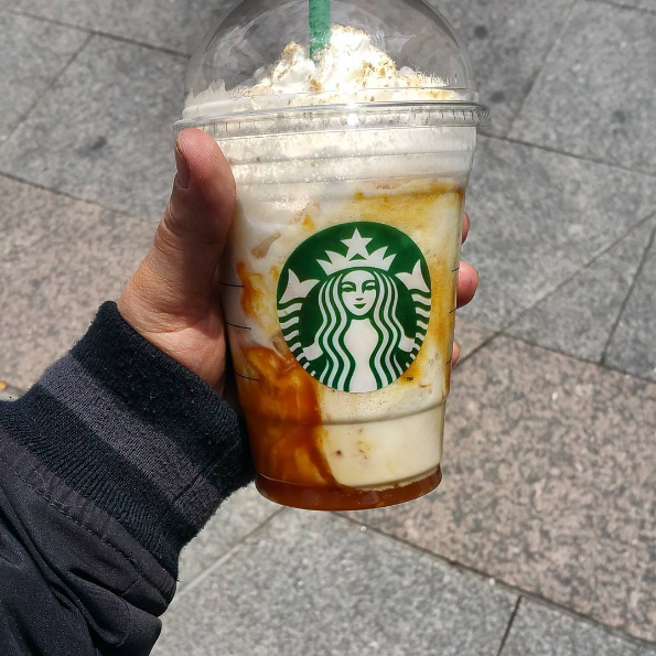 Fresh banana and chocolate cream in a frapp? Hell to the yes.