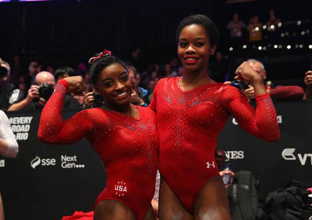 Sure, there's some competition, but most gymnasts are ~competing with themselves~.