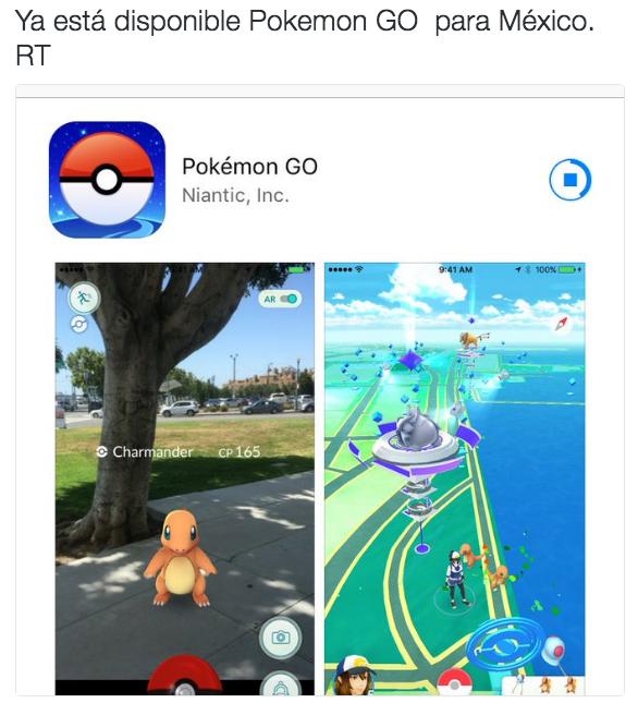 Una hora después el juego fue liberado en la Play Store de Google y la App Store de Apple.