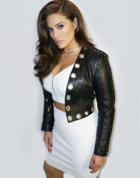 "Ashley writes that she decided to Instagram a photo of herself wearing a hot white crop top/skirt combo and leather Balmain jacket. But when she looked at the comments, she was dismayed at some of the responses, which included ""I am so disappointed in you"" and ""You don't love the skin you're in, you want to conform to Hollywood, you believe being skinnier is prettier."""