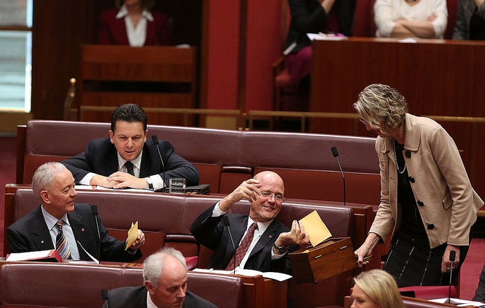"""One crossbench member has described the new senate makeup as """"total gridlock""""."""