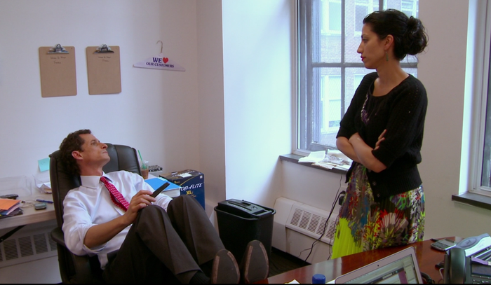 Anthony Weiner and Huma Abedin in a scene from Weiner.