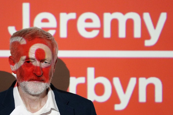 """Jeremy Corbyn at the launch of his campaign's """"Digital Democracy Manifesto"""" on Tuesday."""
