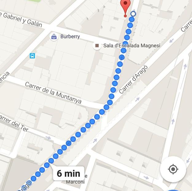 Antes de salir del hotel, revisa todas las rutas que tomarás en Google Maps y tómales foto.