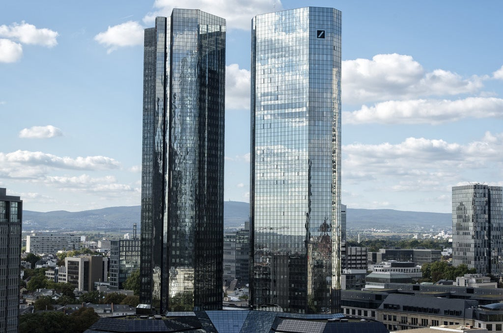 Deutsche Bank headquarters in Frankfurt, Germany.