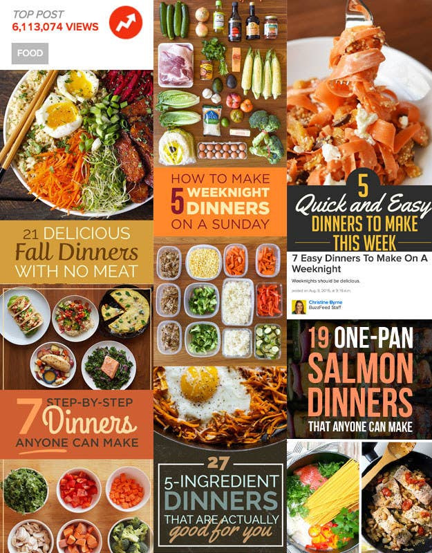I'm talking lists on lists on lists of chicken dinners, slow cooker dinners, no-cook dinners, one-pot dinners, pasta dinners, vegetarian dinners, paleo dinners, 30-minute dinners, 20-minute dinners, and more. That's a whole lotta dinner recipes.