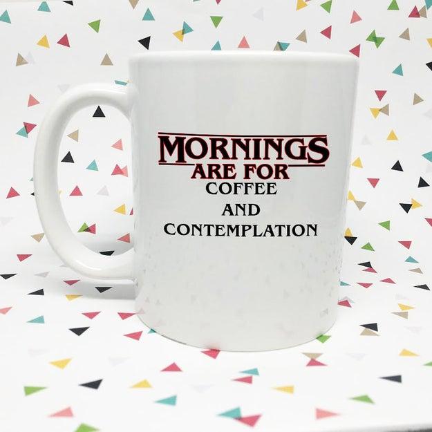 Porque las mañanas no son mañanas sin un poco de café y contemplación ($270).