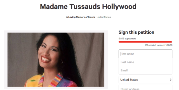 Madame Tussauds worked closely with the Quintanilla family and even visited the Selena Museum in Corpus Christi, Texas to do some extensive research. The wax figure cost $350,000.