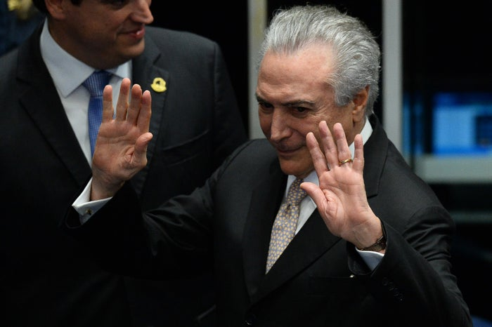 President Michel Temer as he takes office.