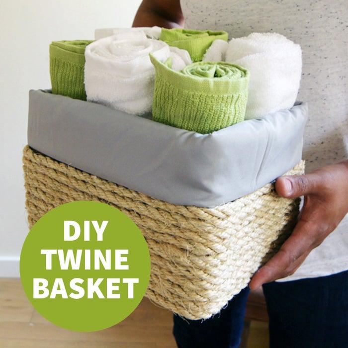 Make A Cardboard Box Look Like A Fancy Store Bought Basket