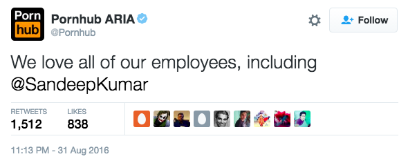pornhub went hardcore on twitter to troll the aap minister