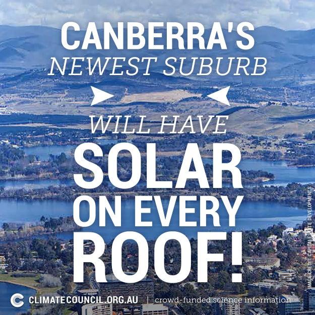 Australia's first solar suburb