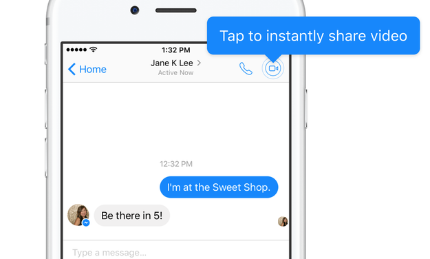 Techmeme: Facebook Messenger adds Instant Video, which lets you
