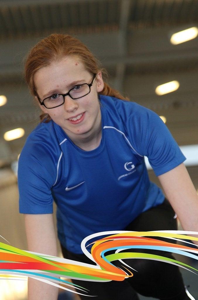Sprinter Stephanie Moore.