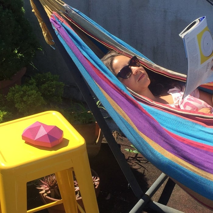 Here's a chill sitch for you: a hammock, a glass of rosé, a summer anthem, and a magazine. This, dear internet strangers, is my self-care routine and I highly recommend you give it a shot. (This is the hammock and this is the rosé, and both are 10,000% worth it, but we're here to talk about one thing and one thing only: the OT Turtle Shell.)This rugged little Bowser-ass-looking device known as an OT Turtle Shell is ready to accompany you into the shower, onto the beach, and basically anywhere you want. It comes in a plethora of colors. It can also be dropped down the stairs without missing a moment of whatever you're listening to while waiting for the new Frank Ocean album.