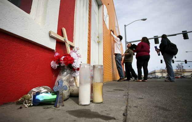 The site of the Antonio Zambrano-Montes' shooting in Pasco, Washington.
