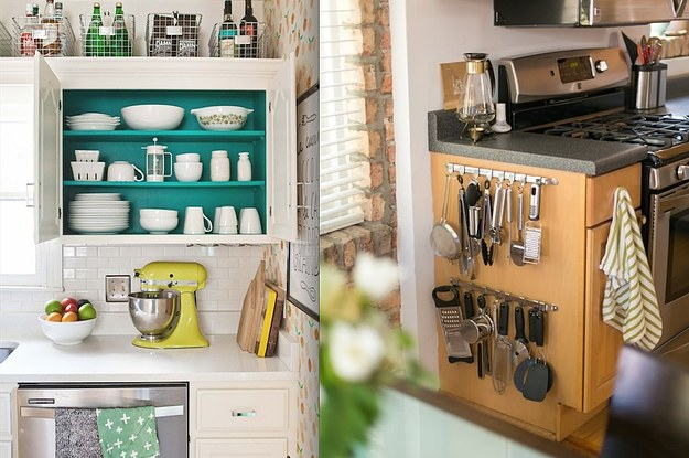 Charming 17 Ways To Squeeze A Little Extra Storage Out Of A Tiny Kitchen