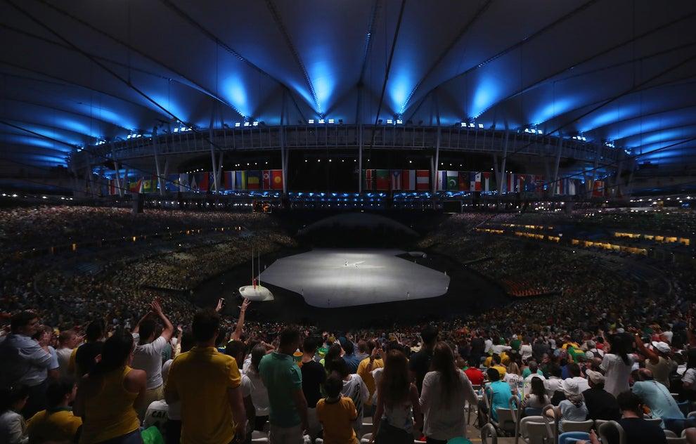 El estadio visto desde adentro.
