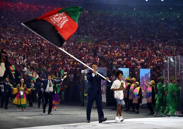 Afghanistan Olympic Flag Bearer