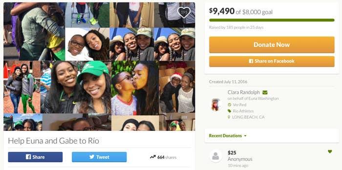 Clara Randolph, amiga de la familia, abrió una página en GoFundMe para ayudarlos a llegar hasta allí.Y en solo 25 días, consiguieron y superaron 8000 USD. Un total de 185 personas hicieron aportes a la campaña.