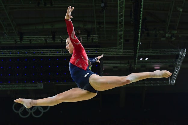 On Sunday night, gymnast Aly Raisman competed in the preliminary rounds of the women's gymnastics competition.