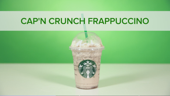 How to make it: Strawberries & Crème Frappuccino + 2-3 pumps of toffee nut syrup