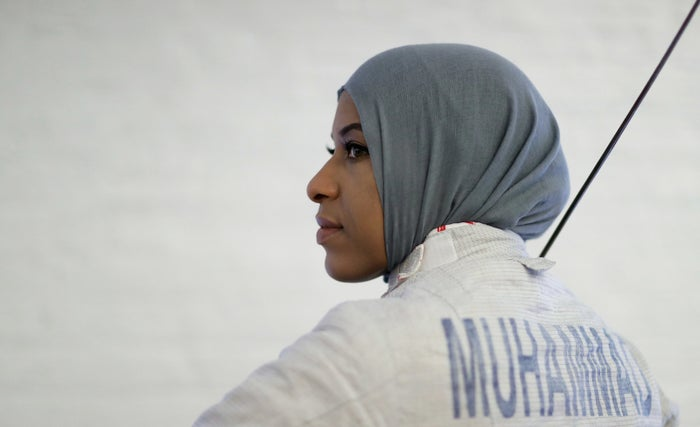 When she isn't climbing to the top of her ranks in the fencing world, Muhammad runs a clothing line with her siblings which sells fashionable, modest clothing for women.