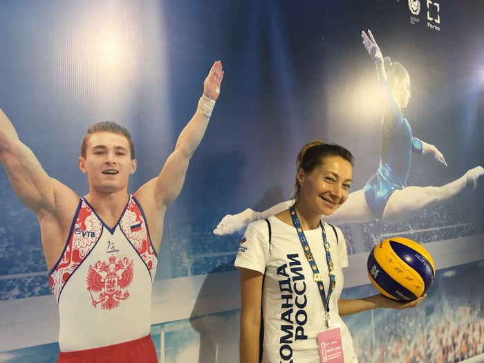Lena Taran, a volunteer for the Russia Fans House.