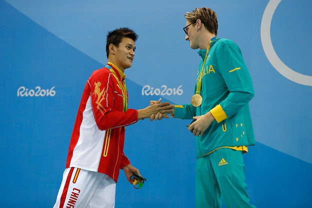 ICYMI, Australian swimmer Mack Horton is currently public enemy number one in China for his tense public feud with Chinese nemesis Sun Yang.